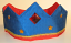 Royal/Red Reversible Silk Crown