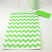 Large Green Chevron Bag