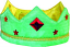 Green/Gold Reversible Silk Crown