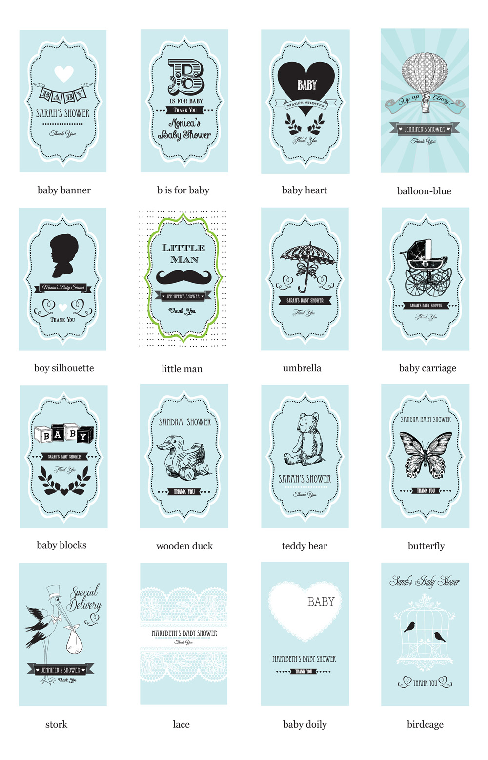 Vintage Baby Personalized Seed Packets - Ecopartytime