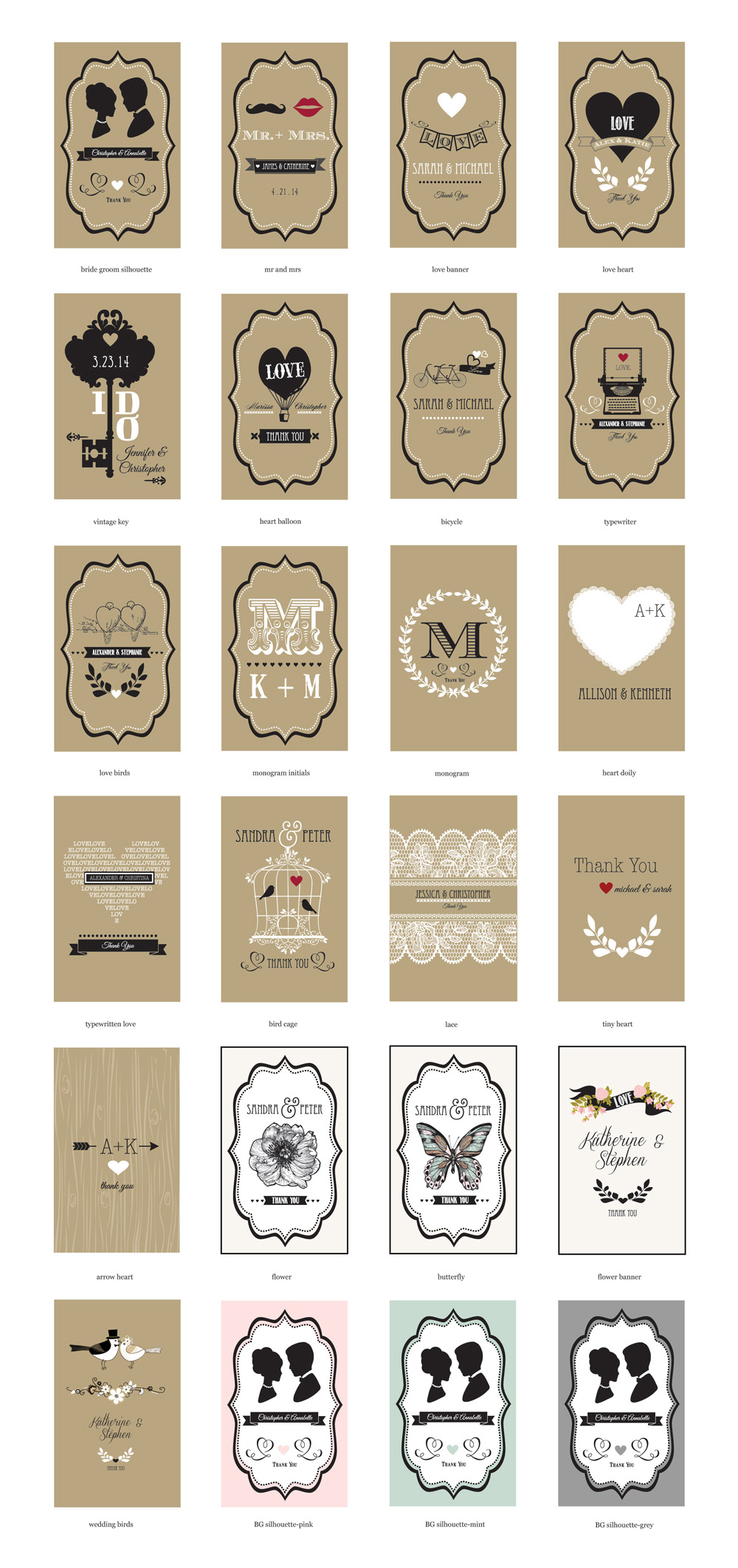 Vintage Wedding Personalized Seed Packets - Ecopartytime