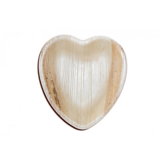6 Quot Heart Shaped Palm Leaf Plate Ecopartytime