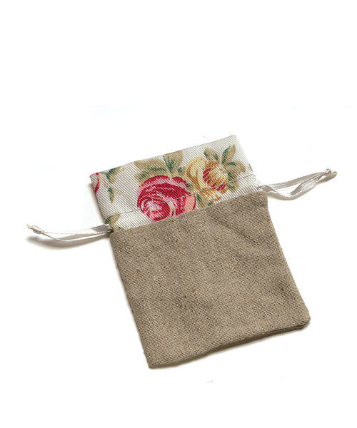 Mini Linen Drawstring Pouch Single