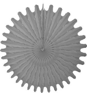 "Gray Honeycomb 18"" Tissue Fan Decoration"