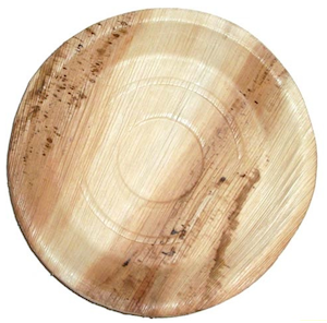"""Packnwood Round 10"""" Palm Leaf Plates - Pack of 25 - only 1 pack is left in stock"""