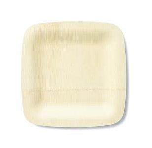 """7"""" Square Plate All Occasion Bamboo Veneerware - Pack of 25"""