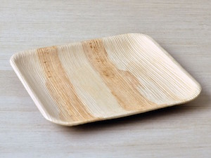 "8"" Square Palm Leaf Plate - Pack of 25"