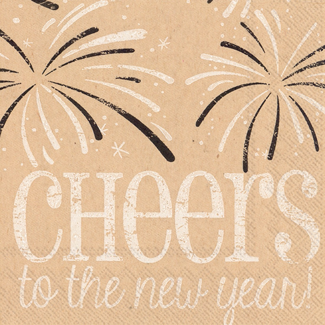 """Cheers to the New Year"" Cocktail Napkins - Pack of 20"