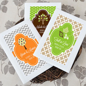 Personalized Wildflower Seed Favors for Fall