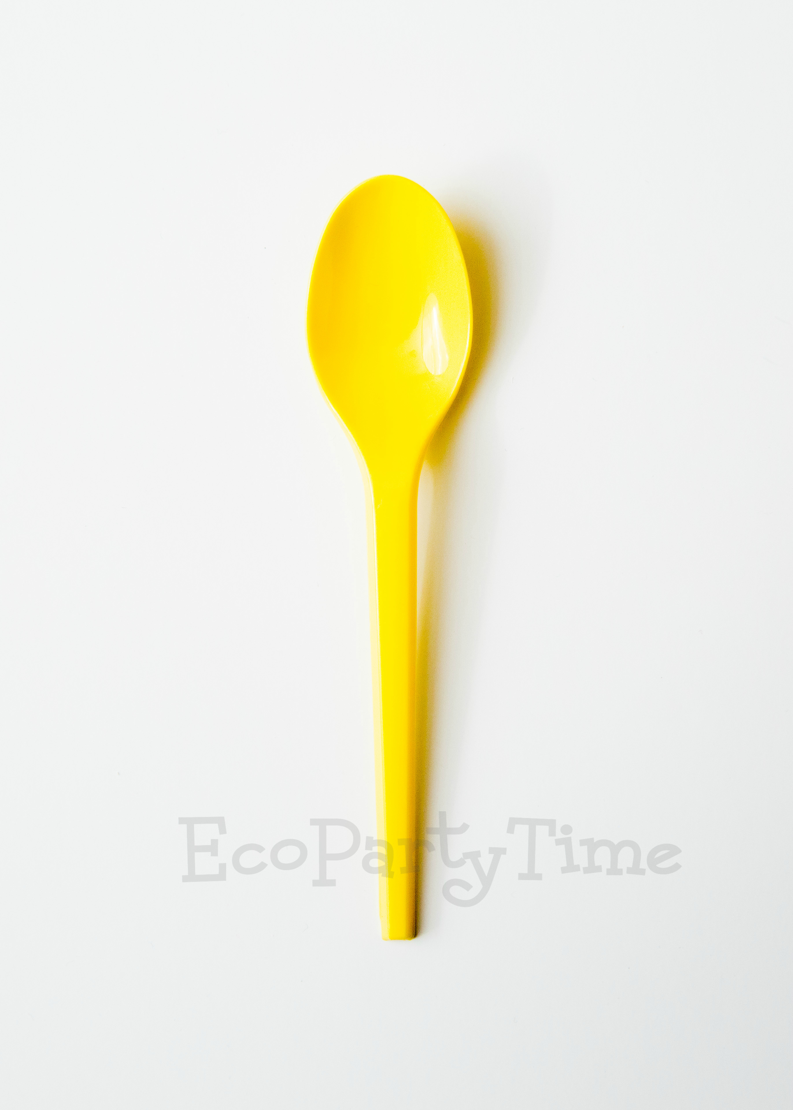 Yellow Compostable PLA 6 inch Spoons - Pack of 50
