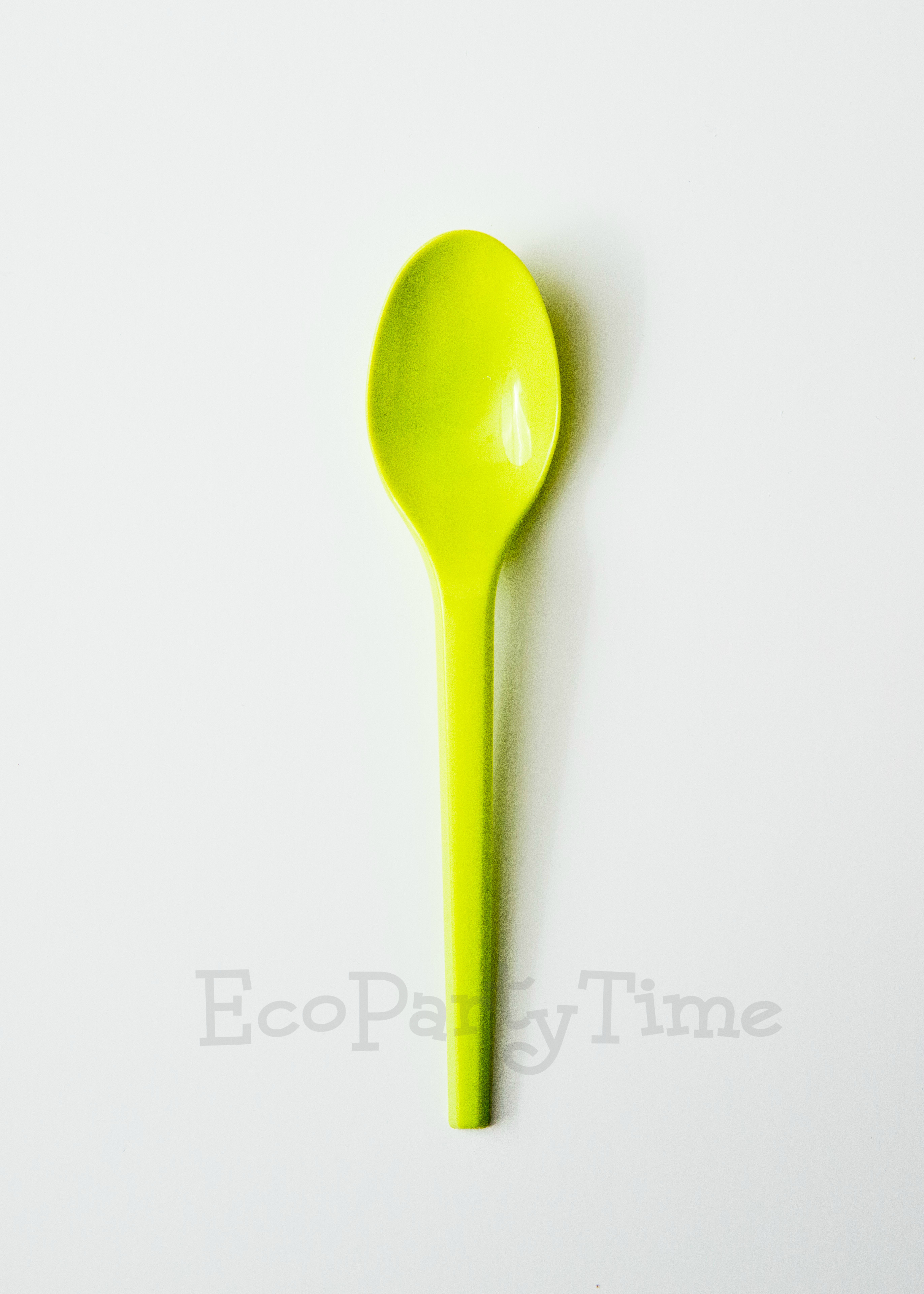 Green Compostable PLA 6 inch Spoons - Pack of 50