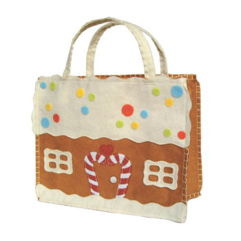 Gingerbread Tote Felt Gift Bag