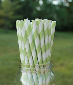 Eco-Friendly Paper Straws - Green