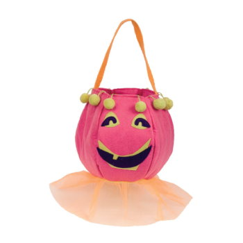 Pun'kin Head Girl Felt Trick or Treat Bag