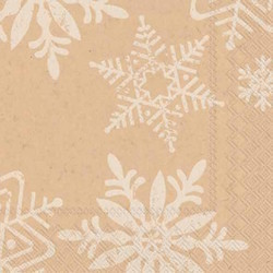 Snowflake Cocktail Napkins - Pack of 20