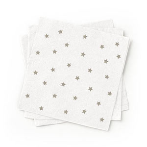 Recycled Grey Patterned Cocktail Napkins - Pack of 200