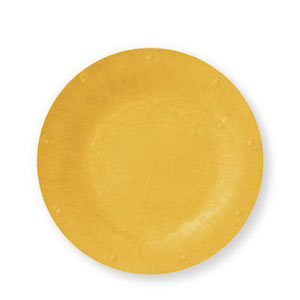 "Yellow Solid Color Plate - Available in 2 Sizes (7"" or 10"") - Pack of 25"