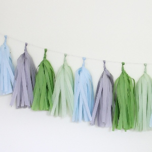 Blooming Tissue Paper Tassel Garland - 6' Long