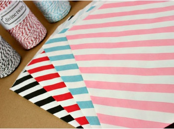 Diagonal Stripe Bigger Paper Bags - Available in Multiple Colors