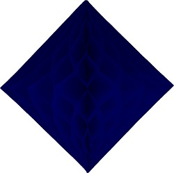 "Blue Honeycomb 12"" Tissue Diamond Decoration"