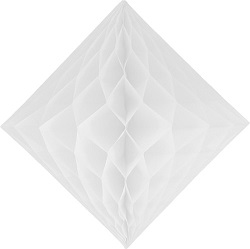 "White Honeycomb 12"" Tissue Diamond Decoration"