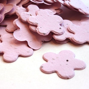 Five Petal Plantable Confetti - Pink - 350 Pieces