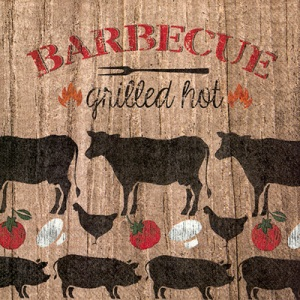 Grilled Hot Cocktail Napkin - 20 napkins per package