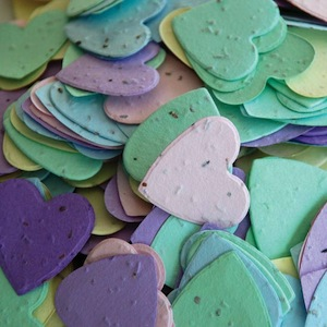 Heart Plantable Confetti - Assorted Colors - 350 Pieces