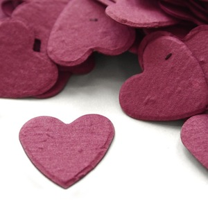 Heart Plantable Confetti - Berry Purple - 350 Pieces
