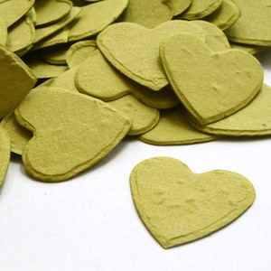 Heart Plantable Confetti - Olive Green - 350 Pieces