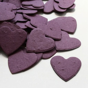 Heart Plantable Confetti - Purple - 350 Pieces