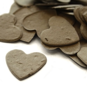 Heart Plantable Confetti - Stone Grey - 350 Pieces