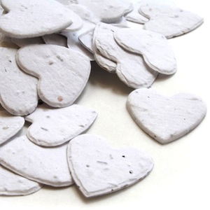 Heart Plantable Confetti - White - 350 Pieces