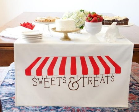 Sweet Treats Table Banner