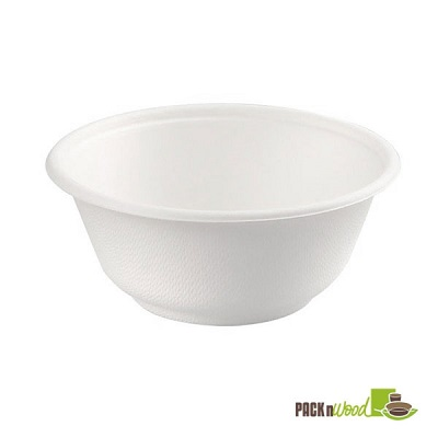 White Sugarcane 12 oz. Bowl - Pack of 25