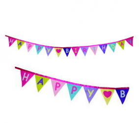 Groovy Felt Pastels Happy Birthday Banner - 8' Long