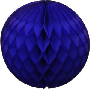 Blue Honeycomb Tissue Ball Decoration - Multiple Sizes Available