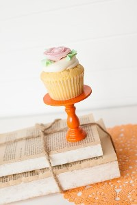 Mini Wooden Cupcake Stand - Orange