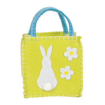 One Bunny Felt Goodie Bag Lime