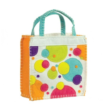 Polka Dot Felt Goodie Bag