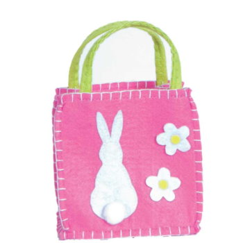One Bunny Felt Goodie Bag Pink