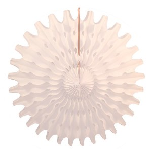 "White Honeycomb 18"" Tissue Fan Decoration"
