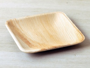 "6"" Square Palm Leaf Plate - Pack of 25"