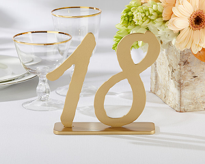 """Good As Gold"" Classic Wood Table Numbers (13-18)"