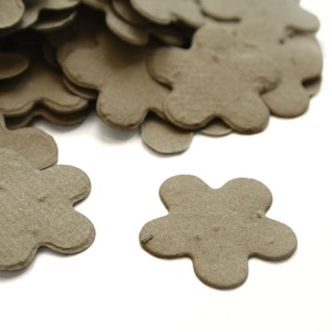 Five Petal Plantable Confetti - Stone Grey - 350 Pieces