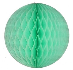 Mint Honeycomb Tissue Ball Decoration - Multiple Sizes Available