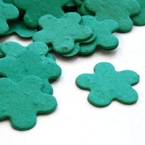 Five Petal Plantable Confetti - Teal - 350 Pieces