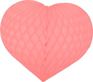 Pink Honeycomb Tissue Heart Decoration-Multiple sizes available