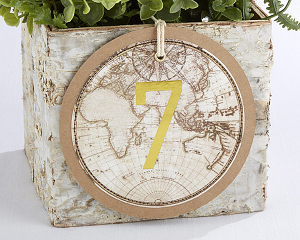 Travel and Adventure Gold Foil Table Numbers (1-18)