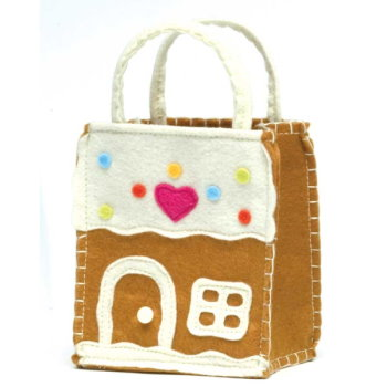 Little Gingerbread Felt Goodie Bag